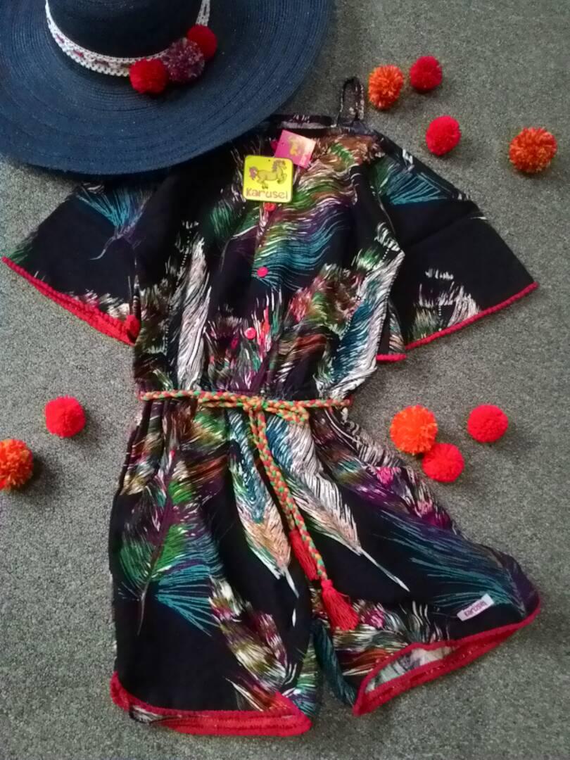 Karusel Kidswear-Pompom Jumpsuit